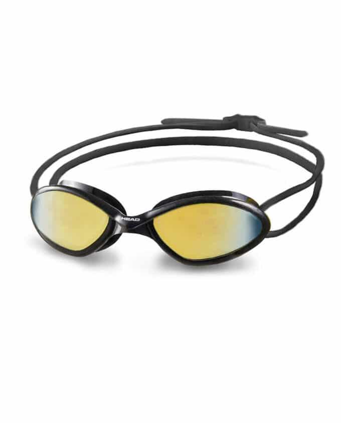 Head Tiger Race mirrored mid black zwembril